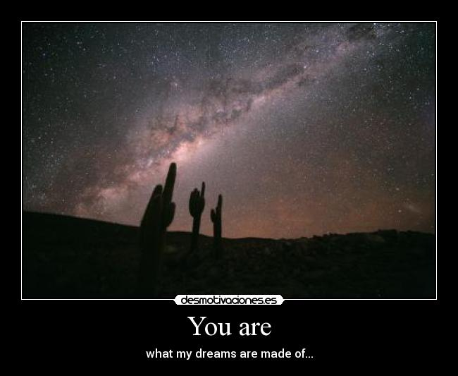 You are - what my dreams are made of...