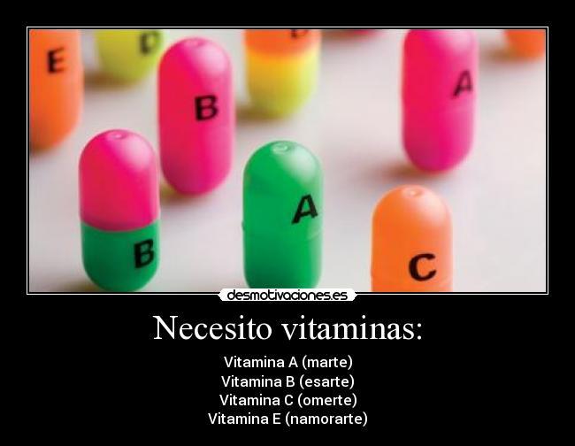 Necesito Vitaminas Vitamina
