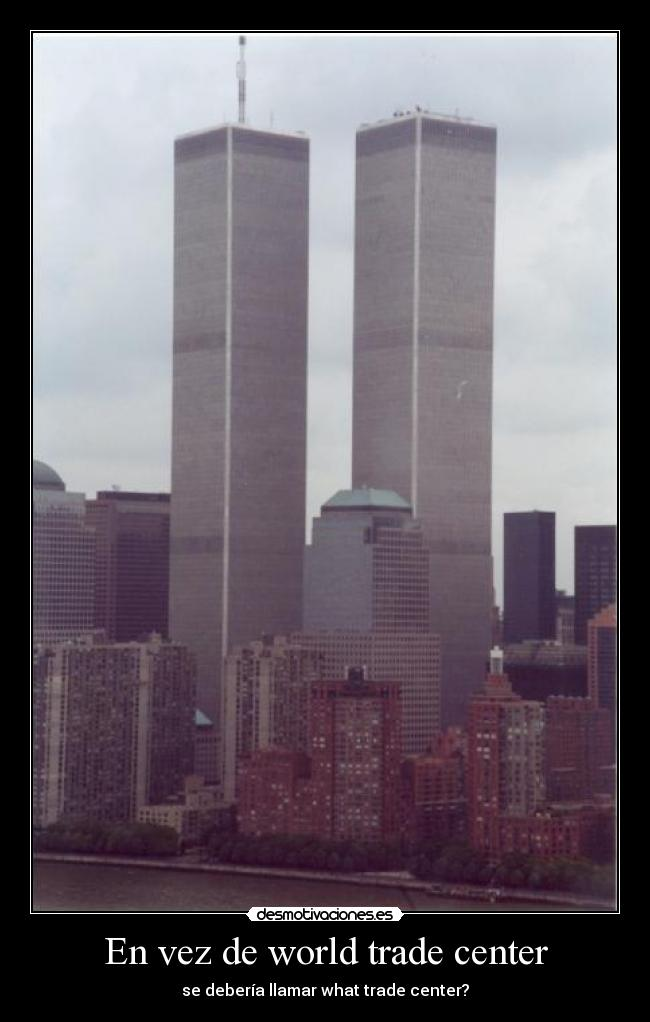 En vez de world trade center -