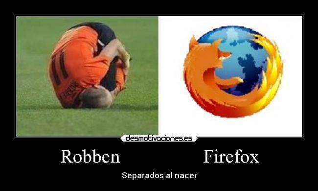 Robben Firefox - Separados al nacer