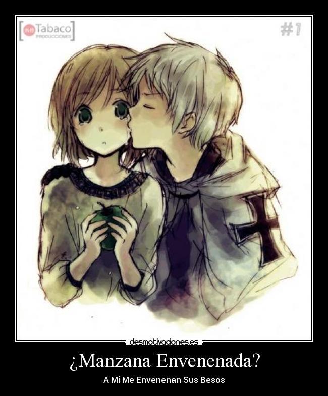 Imagenes De Baños Romanticos:carteles romantico besos anime manzana envenenada lagrimas disney amor