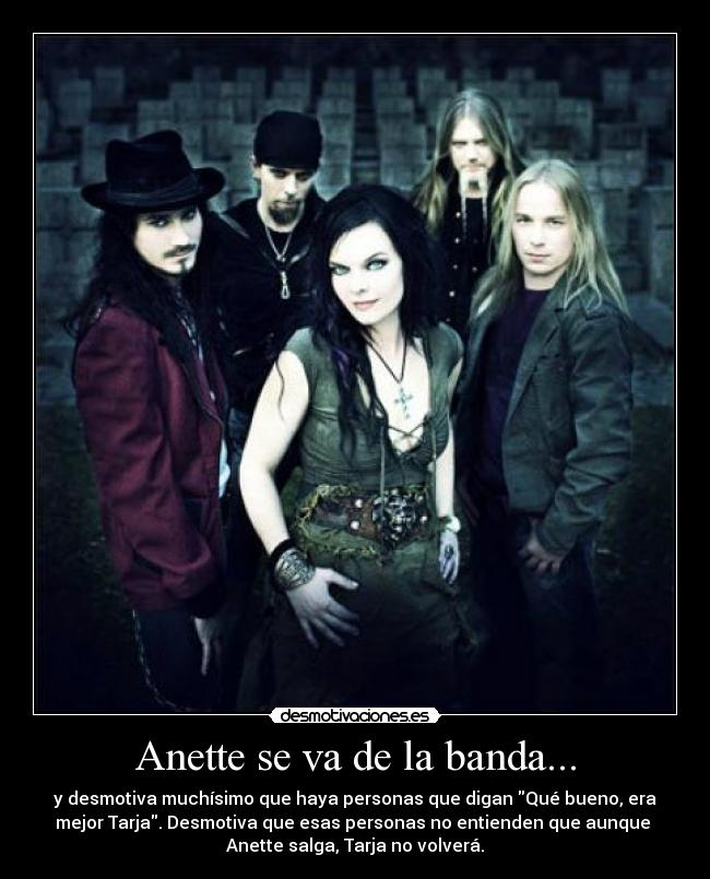 carteles nightwish anette olzon desmotivaciones