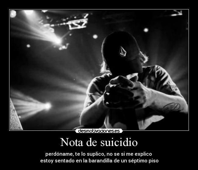 Nota de suicidio | Desmotivaciones