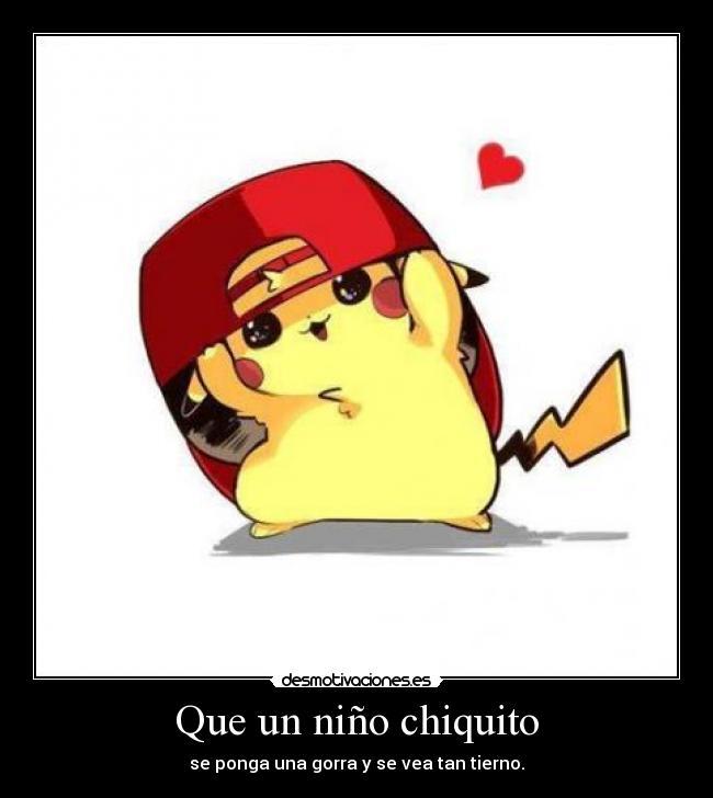 Pikachu tierno con gorra - Imagui
