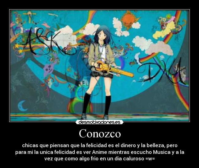 carteles muwigaraklan chicas vanidosas anime musica dia caluroso helado desmotivaciones