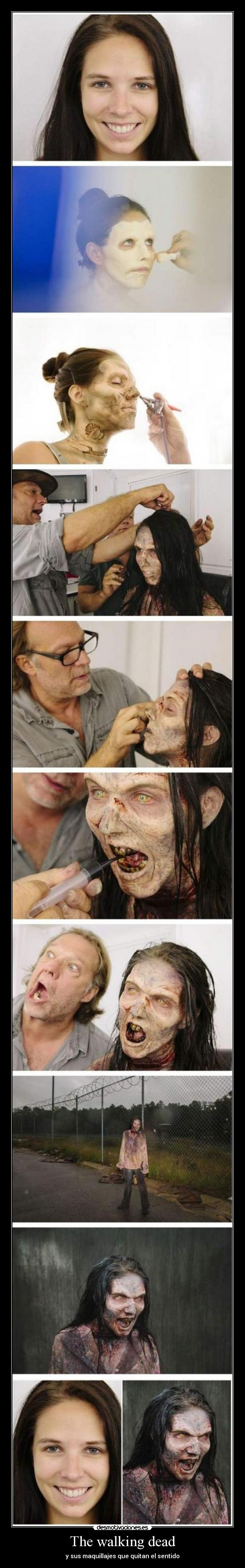 The walking dead - y sus maquillajes que quitan el sentido