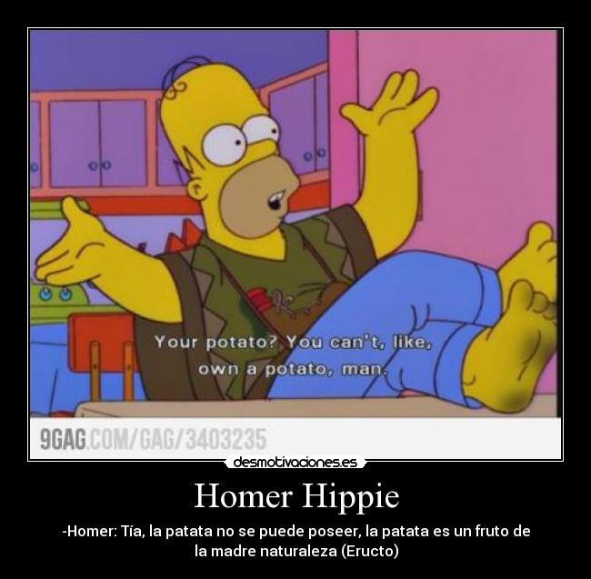 Homer Simpson Hippie
