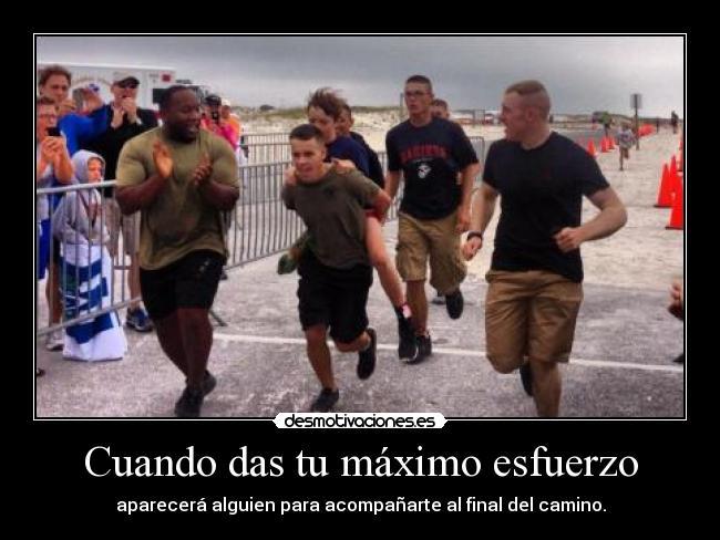 carteles c2dk marines ayudan nino terminar media milla triatlon luego fallo prostatico  desmotivaciones