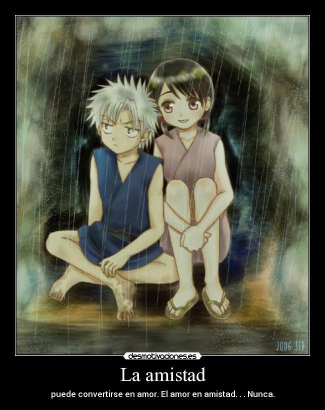 carteles amistad hitsuhina toushiro hitsugaya hinamori momo bleach anime manga desmotivaciones