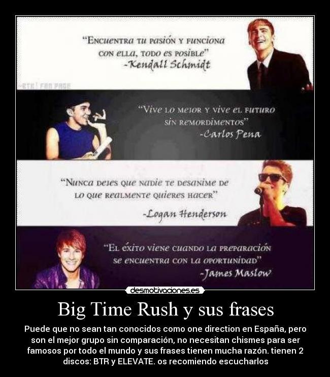 Big Time Rush Y Sus Frases Desmotivaciones