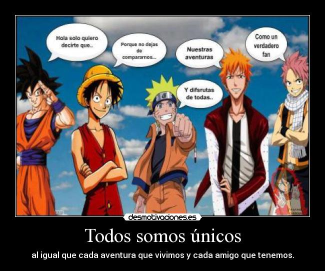 carteles anime manga otaku dragon ball goku one piece luffy naruto shippuden bleach ichigo fairy tail natsu desmotivaciones