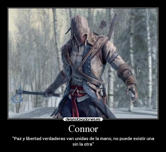 carteles justiciaradical connor assassin creed desmotivaciones