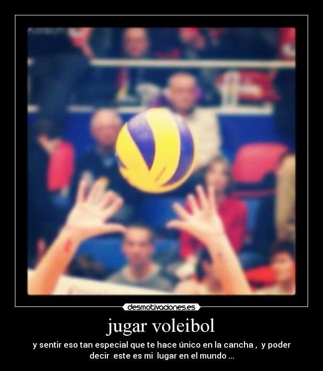 Jugar Voleibol Desmotivaciones