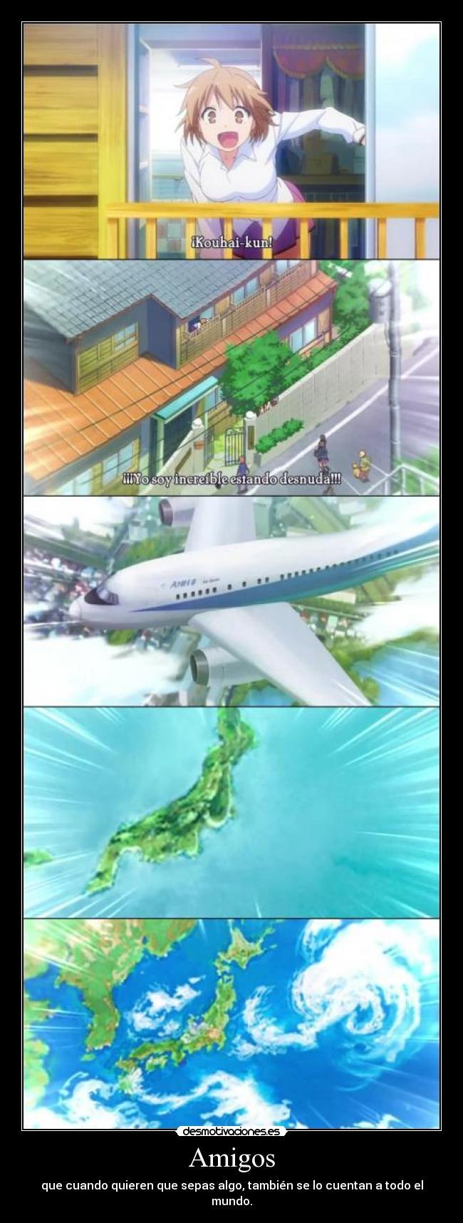 Carteles desmotivacionales de varios animes 1