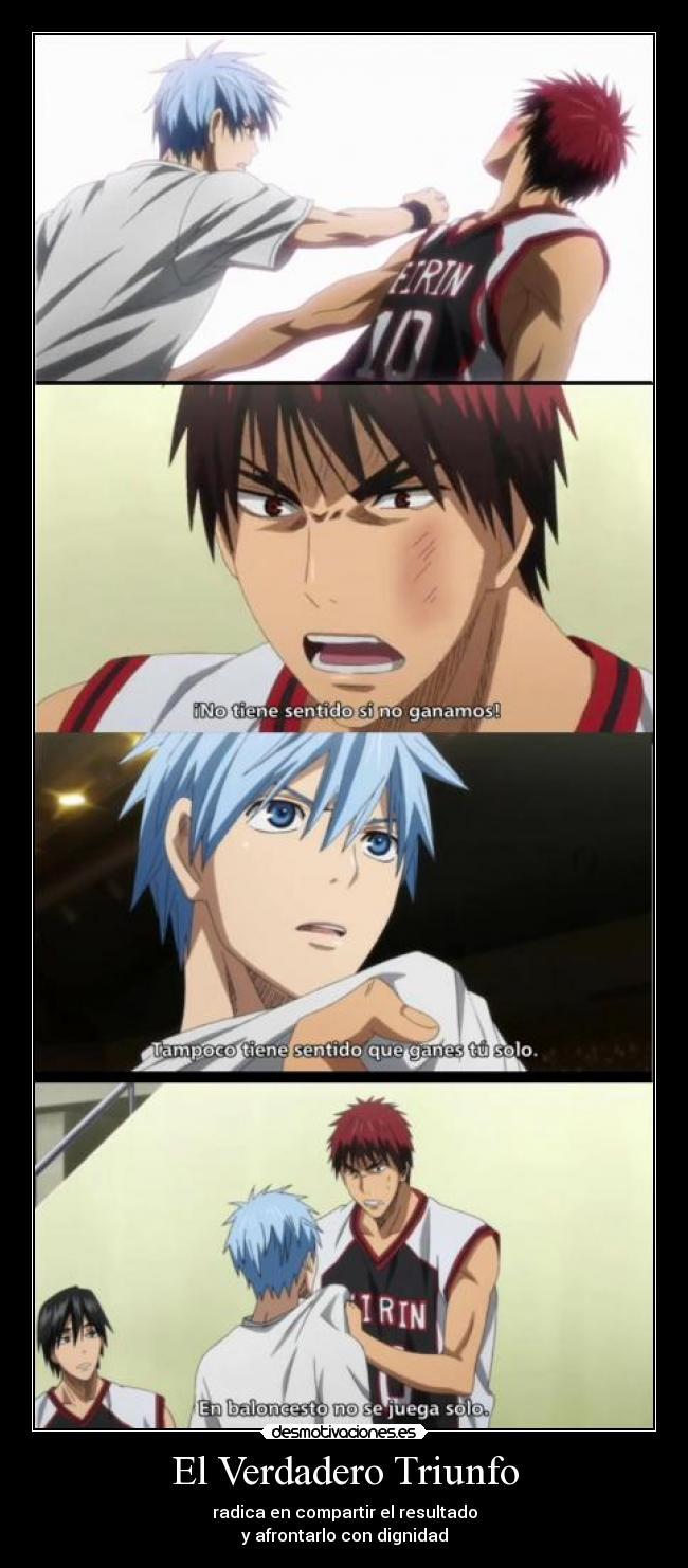 carteles anime manga kuroko basuke decisiones basquet desmotivaciones
