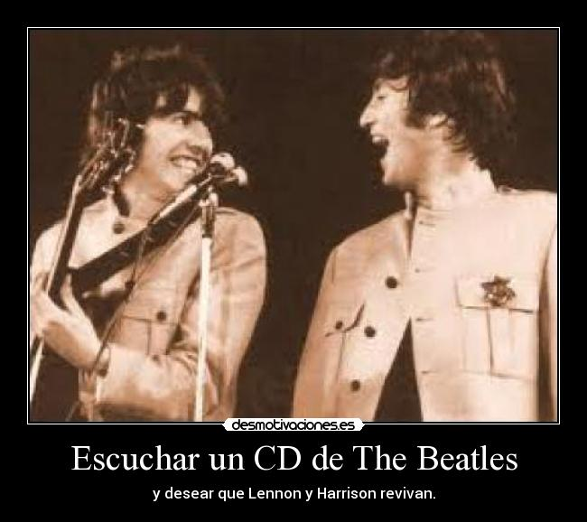Escuchar un CD de The Beatles -