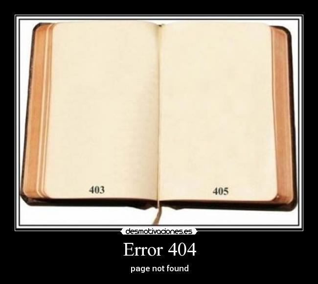 Error 404 - page not found