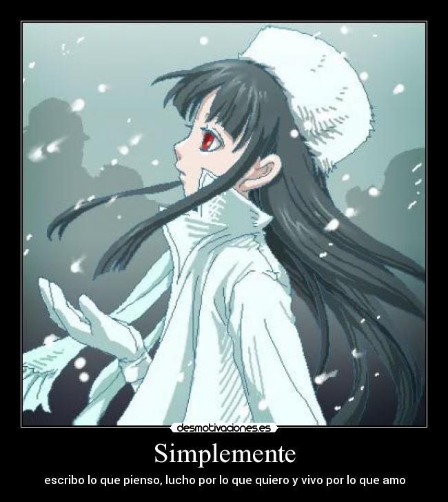 carteles anime hellsing girlycard dato curioso soy tercera jun soy mujer gusta yaoi desmotivaciones