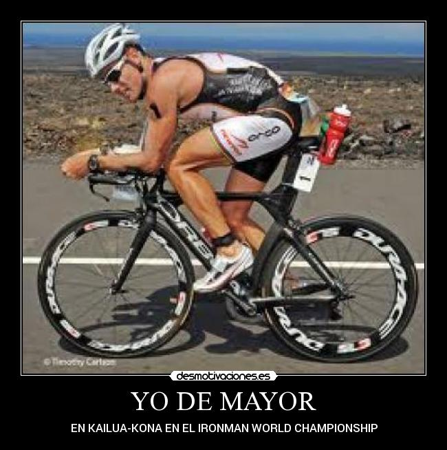 YO DE MAYOR - EN KAILUA-KONA EN EL IRONMAN WORLD CHAMPIONSHIP