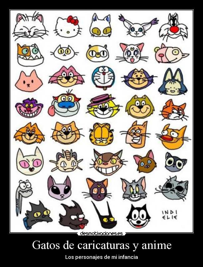 Gatos de caricaturas y anime - desmotivaciones.