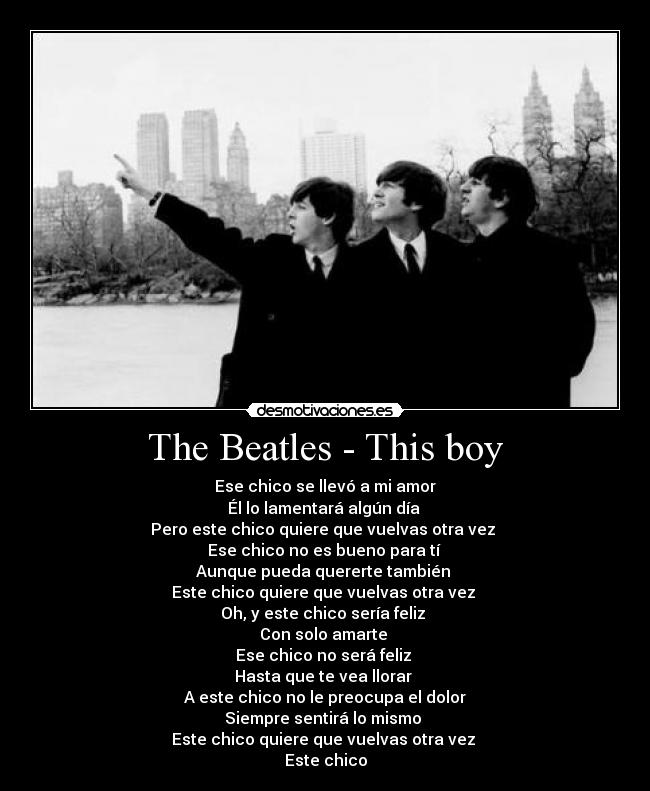 The Beatles - This boy -