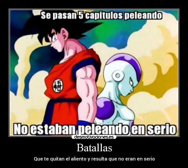 carteles dragon ball goku freezer desmotivaciones