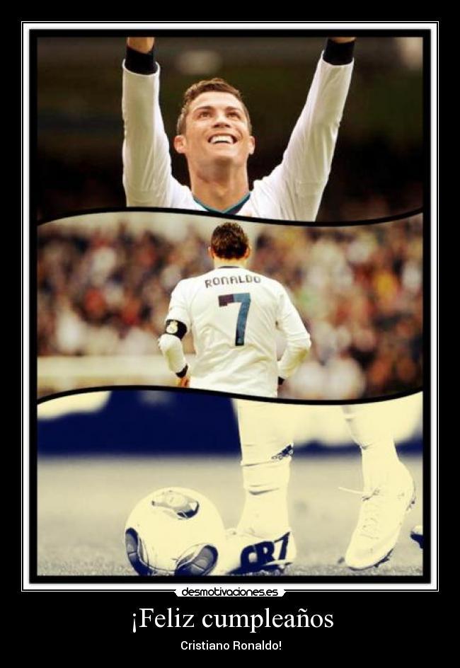 Feliz Cumpleanos Cristianos Ronaldo Www Imagenesmy Com