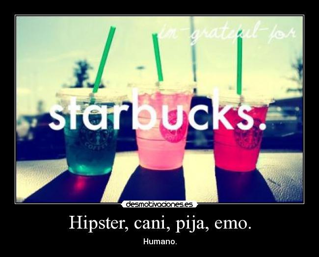Hipster, cani, pija, emo.