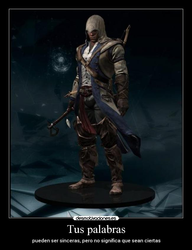 carteles connor kenway assassins creed good gamer reconocido desmotivaciones