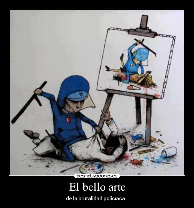 carteles arte hard with them desmotivaciones