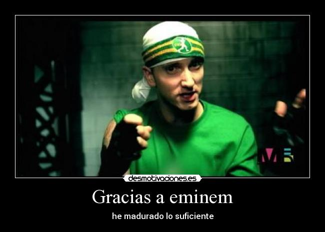 carteles eminem sing for the moment aerosmith dream rap hip hop rock desmotivaciones