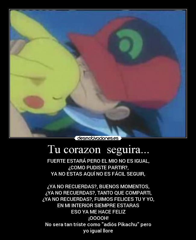 Imágenes, Carteles y Desmotivaciones de pokemos ash pikachu llorar