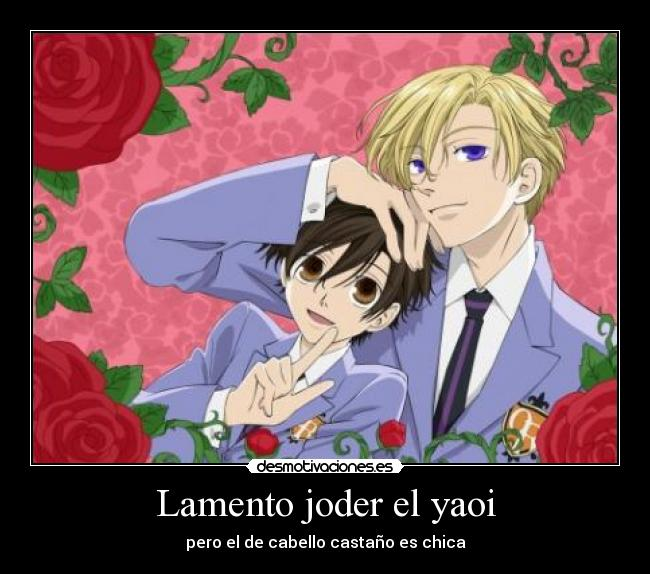 carteles anime yaoi joder ouran high school host club muwigaraklan desmotivaciones