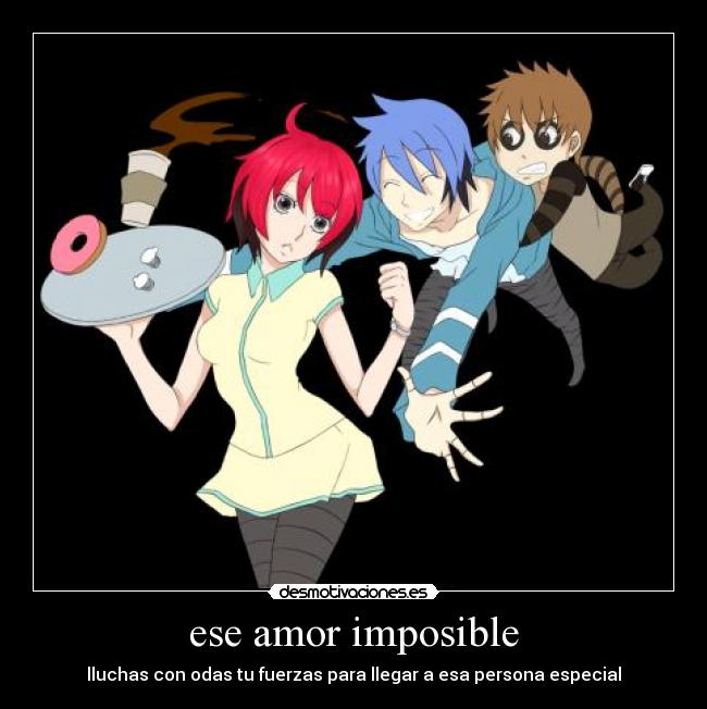 Carteles Amor Imposible Anime