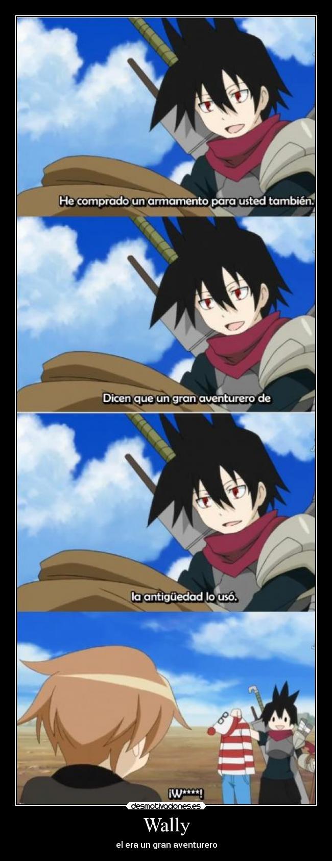 carteles anime shinigamisempai senyuu wally gran aventurero desmotivaciones
