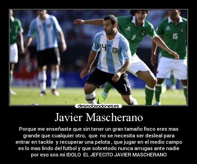 Javier Mascherano Desmotivaciones
