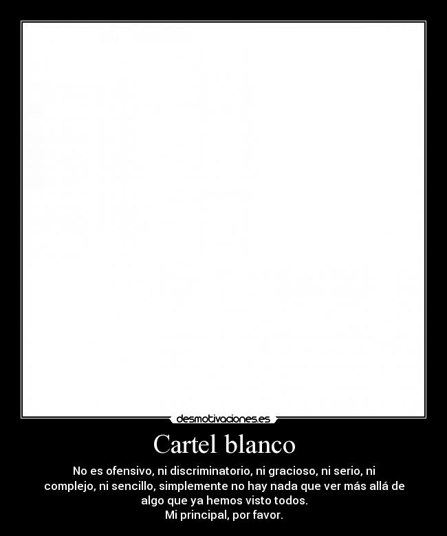 Cartel blanco -