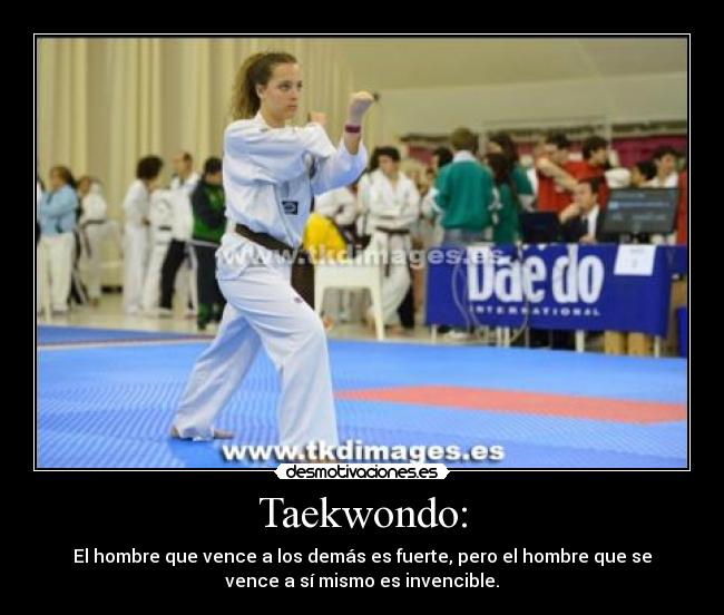 Carteles y desmotivaciones de taekwondo