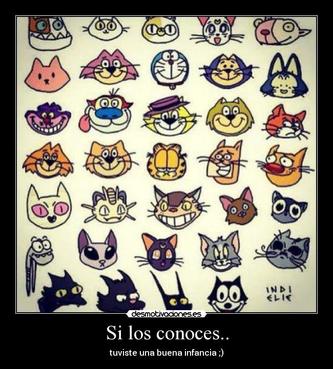 Si los conoces.. carteles gato cat tom y jerry bonito good desmotivaciones