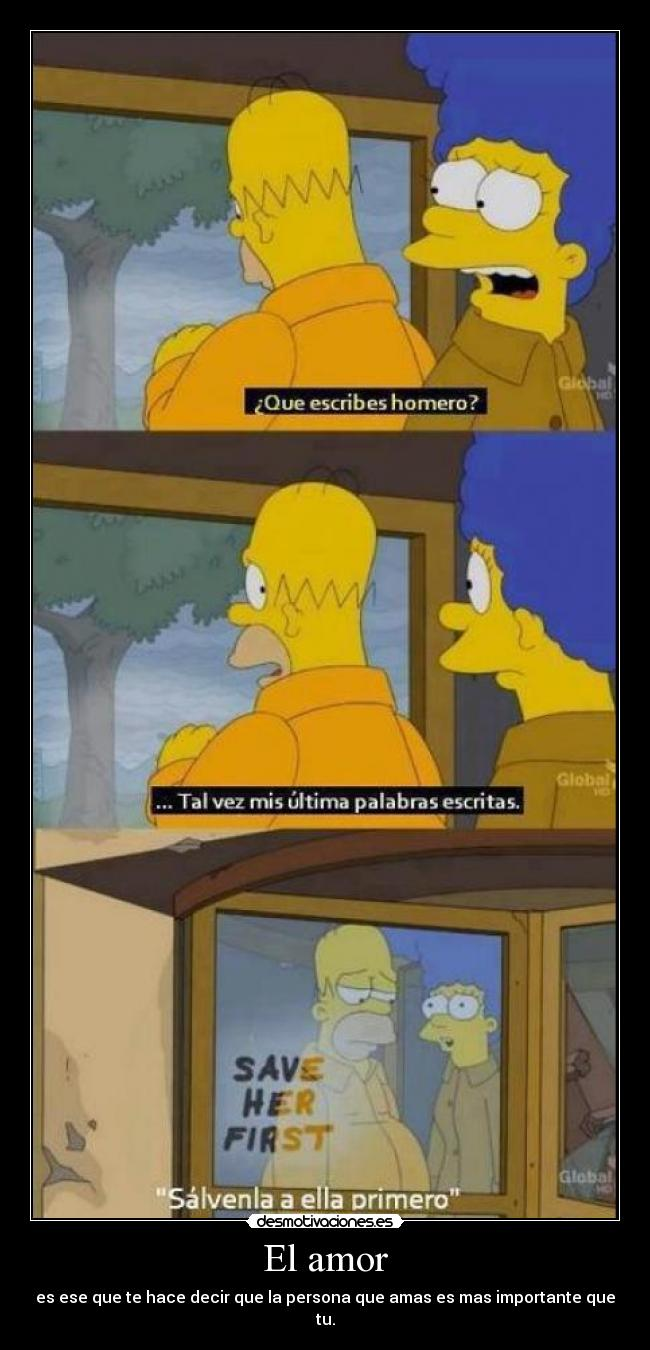 carteles amor elamor lossimpson importante anime homerosimpson desmotivaciones