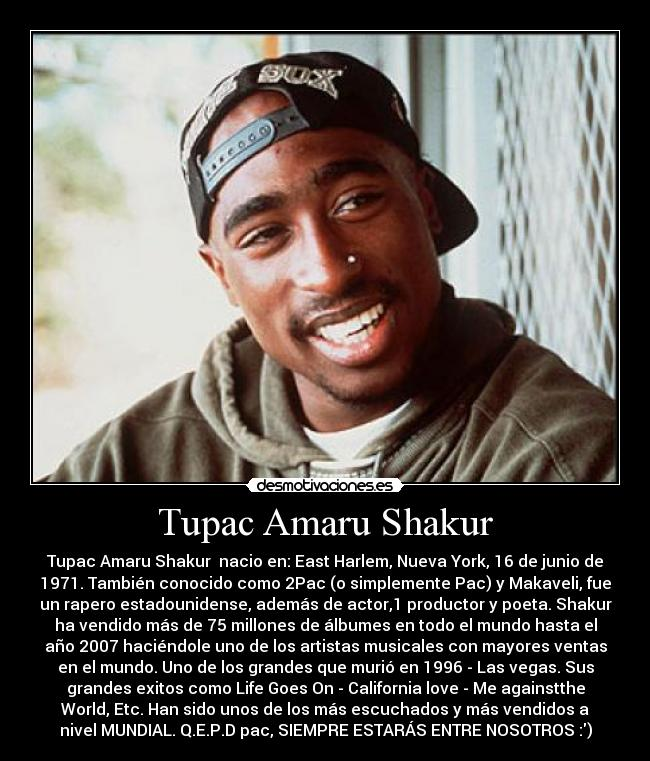 life of tupac shakur essay We will write a custom essay sample on tupac shakur or tupac joined the rap page 2 tupac shakur internet law leadership learning life literature love.