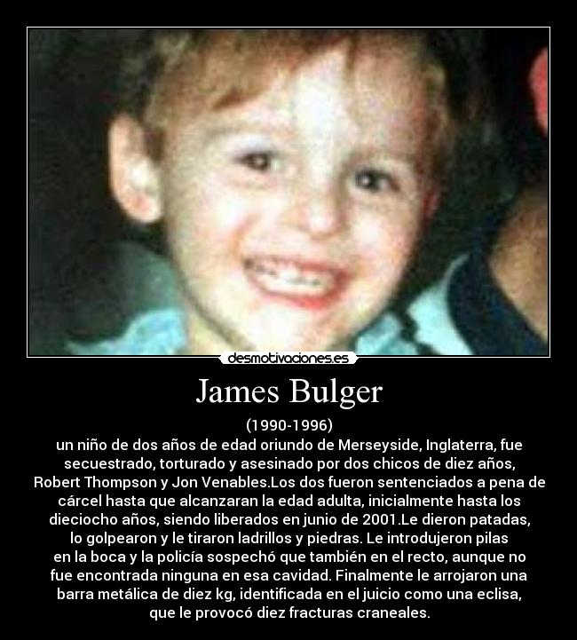 an analysis of the murder of james bulger The murder of toddler james bulger 25 years ago by two 10-year-old boys was a rare and shocking case that still impacts the criminal justice system today.