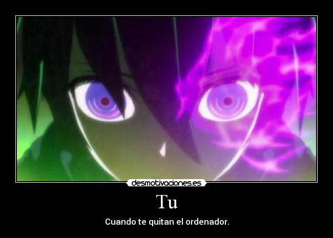 carteles anime manga black rock shooter blackrock shooter purple mato kuroi tucuando quitan ordenador desmotivaciones