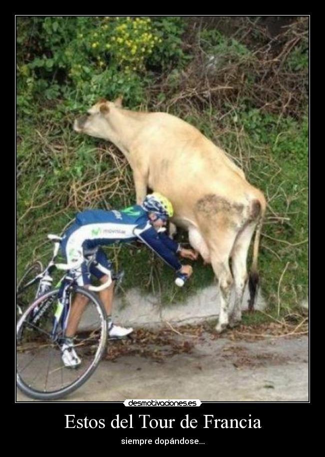 carteles soy fan del ciclismo solo humor arriba alberto contador desmotivaciones