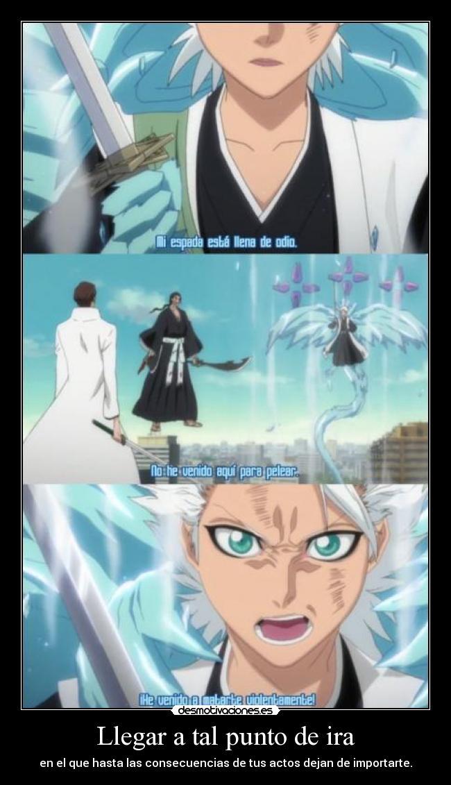 carteles raptorhunters nigatsu harukaze anime manga otaku bleach aizen hitsugaya toushiro ira venganza desmotivaciones