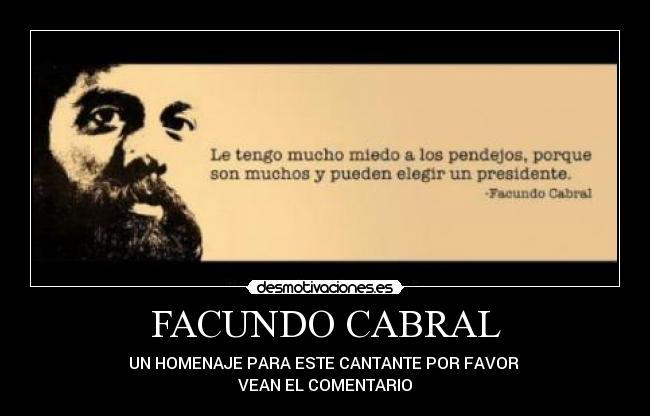 Facundo Cabral Desmotivaciones