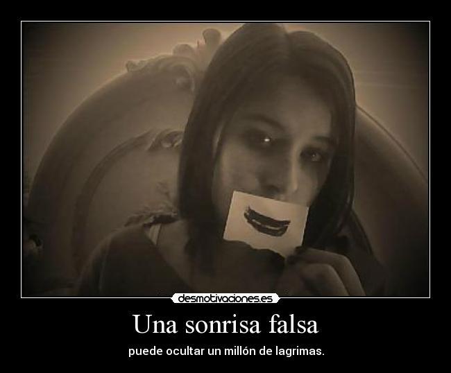 carteles sonrisa triste desmotivaciones