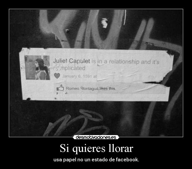 carteles llorar blackworld facebook status desmotivaciones