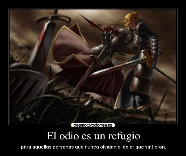 carteles odio frase mia resubida harukaze anime gotian raptorhunters kirch theinmortals fate stay night zero desmotivaciones