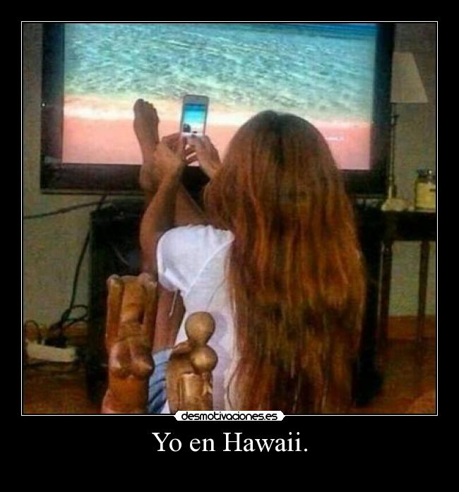Yo en Hawaii. -